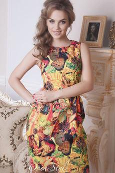 Платье с модным принтом Open-Style