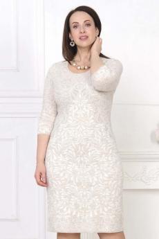Белое вязаное платье Злата