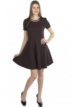 Коричневое платье футляр Bast